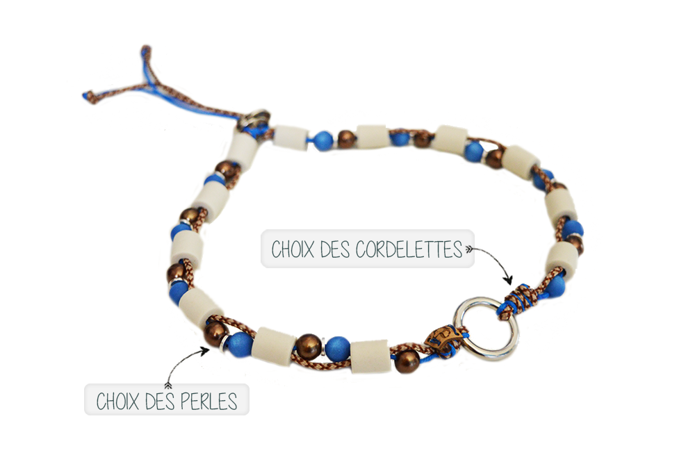Collier anti-parasitaire en perles de céramique EM