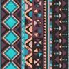 Peeweethnic violet et turquoise