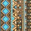 Peeweethnic bleu et marron
